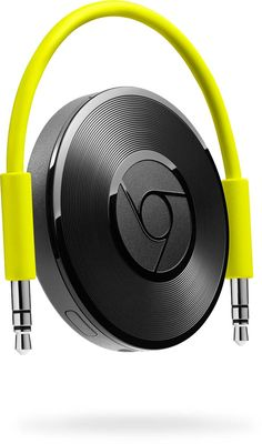 We just received our new gadget: the new Chromecast Audio from Google. Very easy to setup (a couple of minutes) and it's already playing music on your music system!