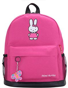 Making Up Many meters of male and female childrens cartoon Rabbit Miffy Bag Backpack Rucksack Cute Rabbit Pupil Bag Pink * Details can be found by clicking on the image. (This is an affiliate link) #ChildCarrierCampingBackpacks