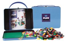 Plus Plus 500 pcs i metallkoffert - blå Play Doh, Suitcase, Lunch Box, Barn, Learning, Mini, Unique, Xmas, Products
