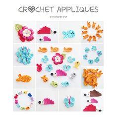 Crochet Appliques Ebook PDF  English US by annemariesbreiblog, €4.50