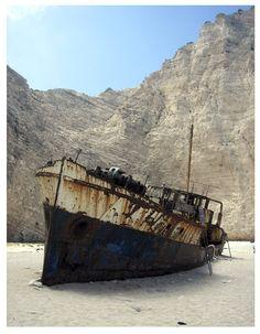 Smugglers Wreck - Smuggler Bay, Zakynthos, Ionian Islands, Greece Copyright: Petter During
