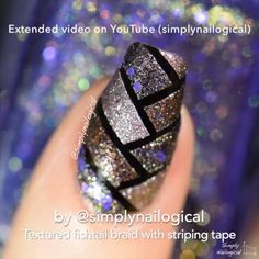 Fishtail braid nails - video tutorial by simplynailogical
