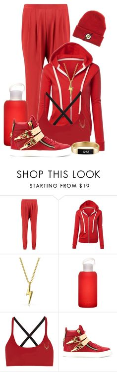 """""""DC: Flash"""" by darksyngr ❤ liked on Polyvore featuring Boohoo, WithChic, Bling Jewelry, bkr, Lucas Hugh, Giuseppe Zanotti, Fitbit, comics, DC and flash"""