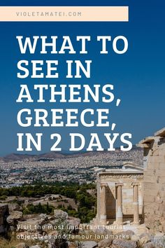 Must-see landmarks for your two-day stay in Athens, Greece. Climb the Acropolis, enjoy a frappe in Plaka, and feel the Greek spirit in this self-guided tour. Road Trip Europe, Cities In Europe, Europe Travel Guide, Europe Destinations, Road Trips, Travel Guides, Monuments, Europe Holidays, Culture Travel