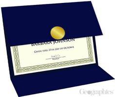 "Navy Blue Linen Certificate Holders Tri-Fold, 9.25""x12.5"", 5/PK"