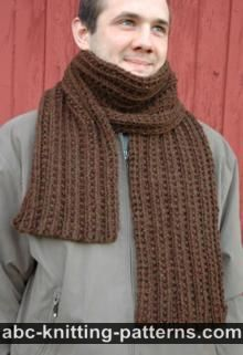 This easy knitting project is the perfect scarf for a fledgling knitter. The Beginner's Bulky Scarf is a practical, versatile knit scarf pattern that will offer comfort and warmth this season. Mens Scarf Knitting Pattern, Mens Knitted Scarf, Chunky Knit Scarves, Easy Knitting, Crochet Scarves, Knitting Patterns Free, Knit Patterns, Free Pattern, Beginner Knitting