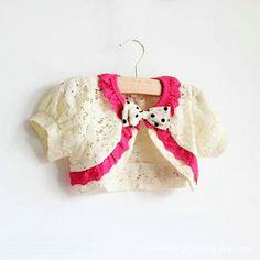 Female child children lace cutout cape shrug short-sleeve shirt princess sunscreen shirt 2013 summer new arrival $20.58