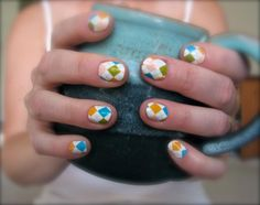 Love these nails for fall.  #Jamberry Nails #Nail Shields #Nail Art