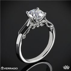 Verragio 4 Prong Knife-Edge Solitaire Engagement Ring  #Whiteflash #Verragio