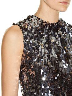 Sequin-embellished flared midi dress | Dolce & Gabbana | MATCHESFASHION.COM UK