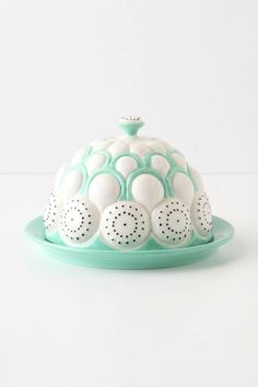 Brassica Butter Dish ..this is so eye catching and beautiful! $24.00 anthropologie