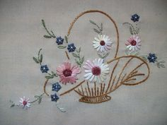 Vintage Embroidery Designs When I happened to run across the pattern for this vintage design, I knew I had to have it. I was thrilled to find that it was available. Embroidery Transfers, Hand Embroidery Stitches, Silk Ribbon Embroidery, Hand Embroidery Designs, Vintage Embroidery, Embroidery Techniques, Beaded Embroidery, Cross Stitch Embroidery, Crewel Embroidery