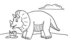 Free Dinosaur Coloring Page Printable - This cute dinosaur picture is perfect for practicing preschool or kindergarten art skills. Part of the growing Free Printable Dinosaur Coloring Page Coloring Pages For Boys, Animal Coloring Pages, Coloring Pages To Print, Free Printable Coloring Pages, Kids Coloring, Coloring Book, Adult Coloring, Cute Dinosaur, Dinosaur Party