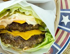 """""""Double-Double"""": Animal & Protein Style (low carb; use gluten free mustard & dressing)"""