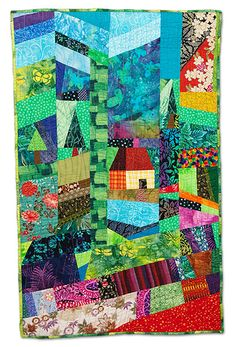 House in a Patchwork Garden by Judith Hoffman Corwin.  2009 Empire Quilters Guild: Showcase