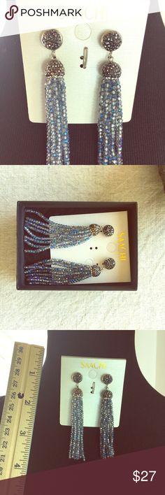Shaachi Boho Beaded Crystalline Tassel Earrings Store overstock Saachi Jewelry Earrings
