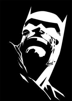 Batman - Dark Knight - Black and White