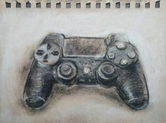 DEWI HOPPE - Small drawing 10x15cm #drawing #artist #paper #chalk #ps4 #controller #contemporaryart