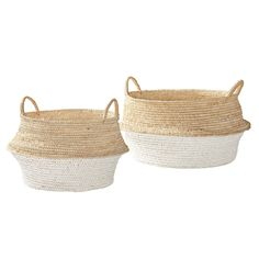 Round Belly Baskets – Set of 2 | Serena & Lily