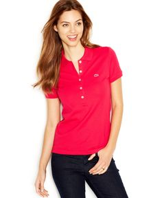 Lacoste Short-Sleeve Five-Button Logo Polo Shirt