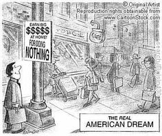 the materialistic aspect of the america dream Why is the american dream so  can make it in america the american dream as shown in  make sure to focus on the darker aspects of the american dream, .