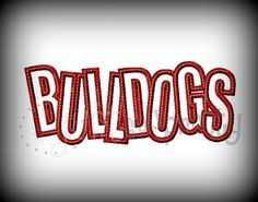 Bulldogs Overlap Dawgs Sillouette Embroidery by justsewpretty