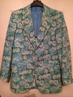 Vintage LILLY PULITZER Palm Beach Men's Division Blazer,Green Paisley, Fits  42 #LillyPulitzer