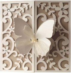 Silhouette Design Store - View Design #75752: 5x5 butterfly flourish gate fold card