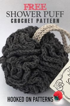 Free Crochet Shower Puff Pattern Free shower puff crochet pattern from Hooked On Patterns. This patterns is part of my Luxury Bathroom Spa Set, a set of 4 patterns, available for free on my. Crochet Kitchen, Crochet Home, Crochet Gifts, Knit Crochet, Hooked On Crochet, Crochet Blogs, Crochet Projects, Sewing Projects, Knitting Patterns
