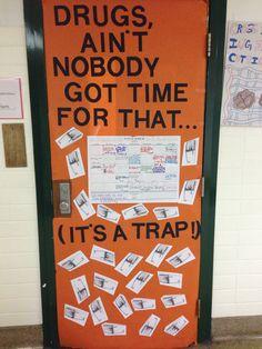 Drug free door decorations | school | Pinterest | Drug ...