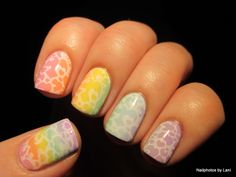 Love is Love - Pastel Rainbow Hearts- Valentines Day nails #8, NPC's Valentine's Day Nail Art Challenge, and #31Nails2014 Day 19 Rainbow