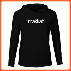 Idakoos - Hashtag Makkah - Cities - Hooded Long Sleeve T-Shirt - Cities countries flags shirts (*Partner-Link)