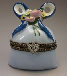 Limoges Peint Main Trinket Box France by FleetwoodAntiques on Etsy