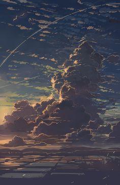 Beautiful sunset cloud matte