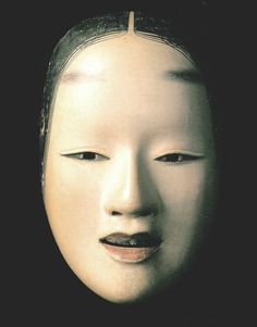 Noh mask - so beautiful. Very close to the shape of my Neutral mask