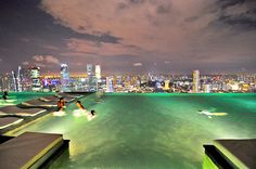 Rooftop Pool, Marina Bay Sands, Singapore