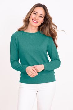 Supersoft Sweatshirt in Sea Green Summer Outfits, Summer Clothes, Colours, Pullover, Sweatshirts, Ss, Sweaters, Green, Fashion