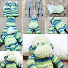 How to make Sock Monkey Terry step by step DIY tutorial instructions