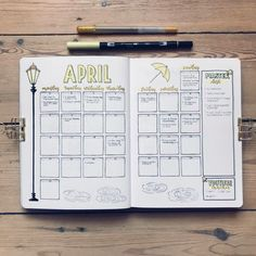 20 Monthly Spread Layouts for your Bullet Journal - Ideas and Inspiration — Square Lime Designs 30 Monthly Spread Layouts for your Bullet Journal - Ideas and Inspiration - 2020 Bullet Journal School, Bullet Journal Inspo, Bullet Journal With Calendar, Minimalist Bullet Journal, April Bullet Journal, Bullet Journal Monthly Spread, Bullet Journal Notebook, Bullet Journal Themes, Bullet Journals