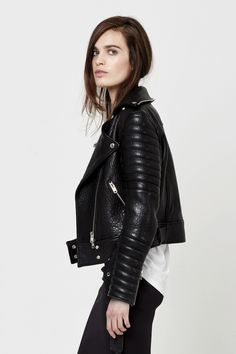 dreamy leather jacket #style #fashion #textured #clothes