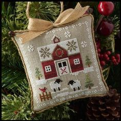 Little House Needleworks - Farmhouse Christmas - Part 1 - Little Red Barn, Beach Cottage Stitchers - Cross Stitch & Needlework Supplies