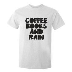 Coffee Books Rain Unisex Fit T-Shirt K0068