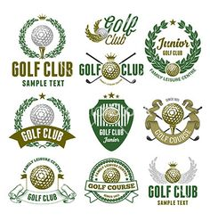 Golf logo set vector