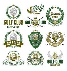 Golf logo set vector