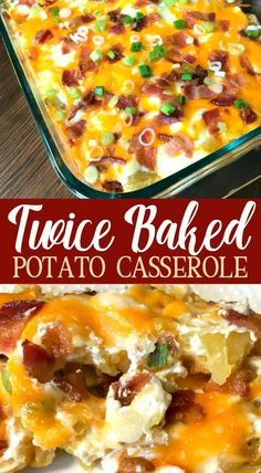 This Twice Baked Potato Casserole is packed with delicious flavors and can be made much more quickly than traditional twice baked potatoes.