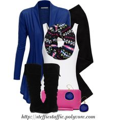 Pink, Cobalt Blue & Black