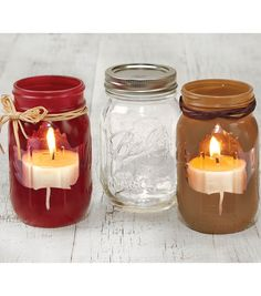 Fall Crafted Mason Jars // Fall projects