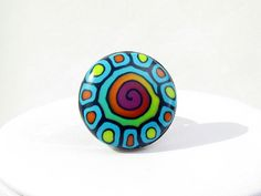 Mauritius  Polymer clay Ring  Fimo ring polymer von polymerdesign