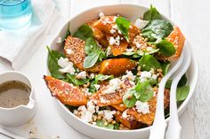 This nutty salad is great with pizza, a barbeque lunch, with a roast or enjoy it as a meal on its own.