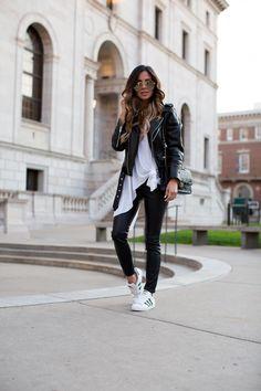 minnesota fashion blogger leather jacket